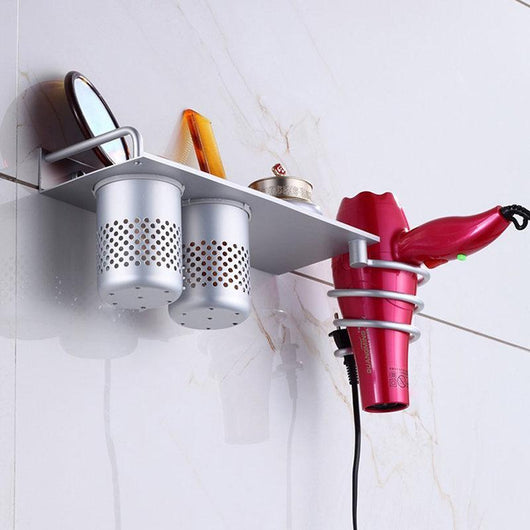 Bathroom Wall Mount Hanging Storage Rack With 360 Degree Rotation Towel Holder