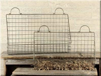 Wire Hanging Storage Rack Set 2