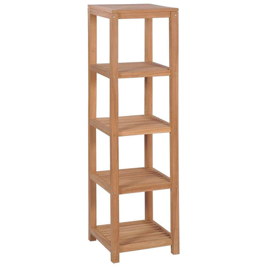 4-Tier Bathroom Storage Rack Solid Teak 42x42x165 cm
