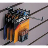 Heavy duty 12 counts chrome utility pegboard slatwall single pin hooks 2 4 6 8 10 12 for shop display fitting 12