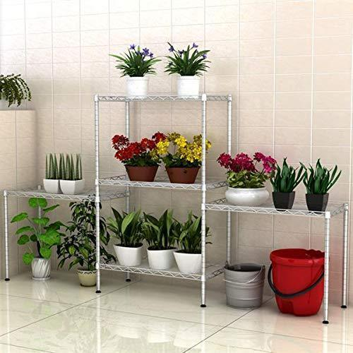 5 Tier Wire Shelving Units, Heavy Duty Adjustable Stacking Shelves Storage Rack Organizer for Laundry Bathroom Kitchen Pantry (US Stock)