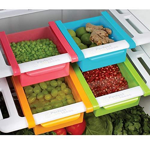 Pack of 20 Fridge Space Saver Organizer Slide Storage Rack Under Shelf Drawer