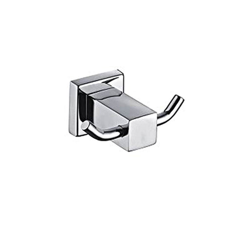 Parmir Water Systems YS-51016B Double Hook Robe Holder, Brushed Steel