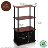 Furinno 4-Tier Multipurpose Storage Rack NW889DC/BK/BK
