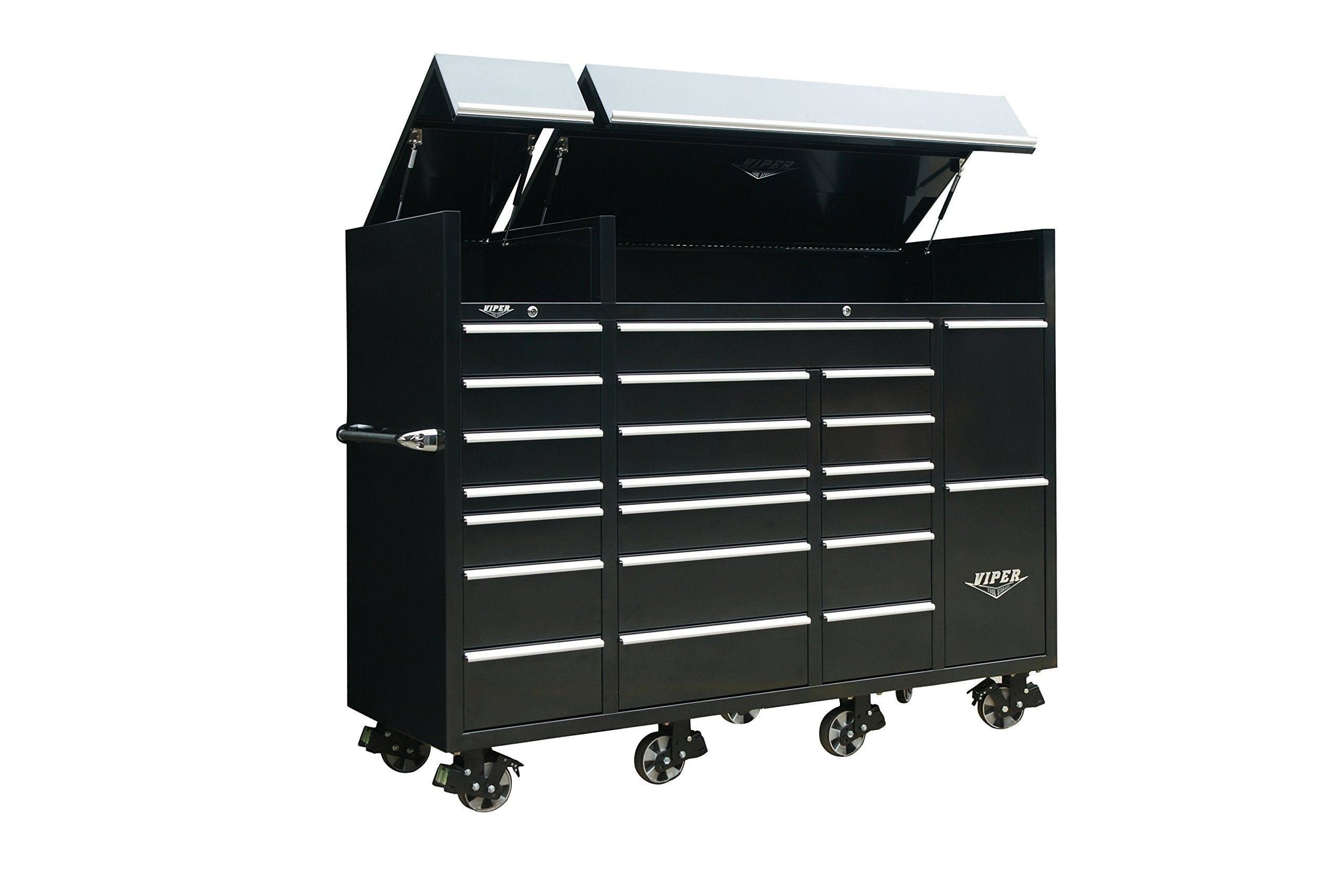 Discover the viper tool storage vxxl86ubbl 86 22 drawer ultimate tool box with pegboard and work surface power strip xx large black