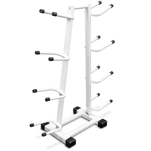 Medicine Ball Storage Rack: Double Sided 4-Tier Exercise Ball Storage Tree Stand for 8 Weighted Balls by Crown Sporting Goods