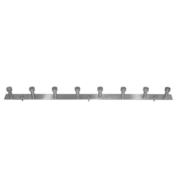 WEBI Robe Hook,8 Peg Stainless Steel 304 Coat Hat Hooks,Heavy Duty Wall Hook Rack for Closet Entry Hallway Foyer,Wall Mounted,Brushed Nickel,8 Hooks,2 Packs