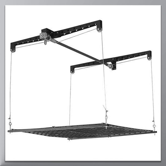 HeavyLift 4-by-4-Foot Cable-Lifted Storage Rack