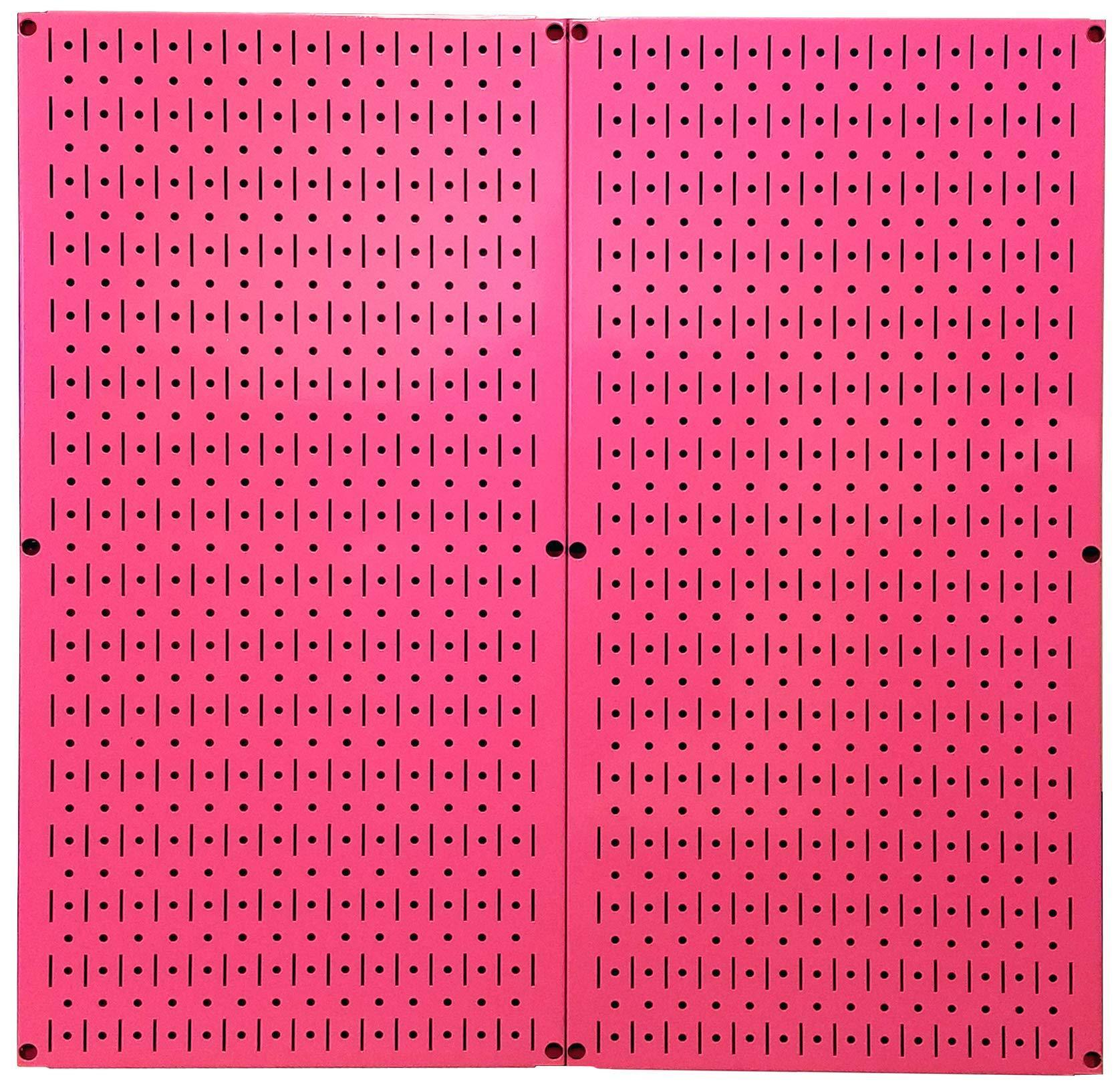 Exclusive wall control pink pegboard metal pegboard pack of pink peg boards two 32 inch tall x 16 inch wide colorful pink pegboard wall storage panels