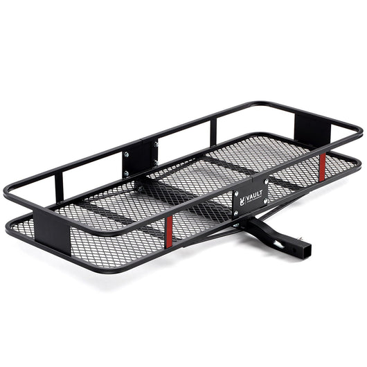 "60"" x 24"" Cargo Hitch Carrier by Vault - Haul Your Cooler and Camping Gear with this Rugged Steel Constructed Storage Rack and Basket for Your Truck or SUV - Easily Mounts to Trailer Towing Hitches"