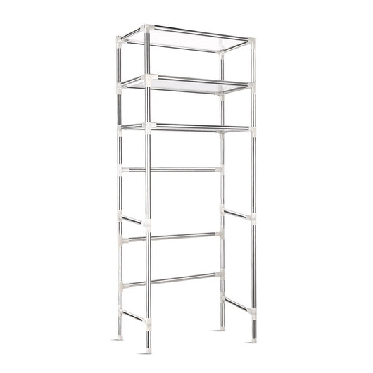 3 Tier Bathroom Storage Rack - Silver