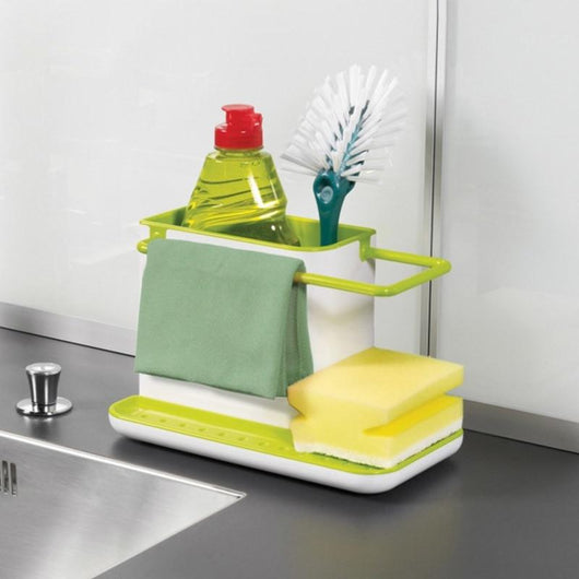 Sponge Kitchen Box Draining Rack Dish Self Draining Sink Storage Rack