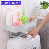 HUIYI HOME Bathroom Storage Rack Strong Sucker Cosmetic Toilet Paper Storage Box For Closestool Bathroom Organizer EGP055