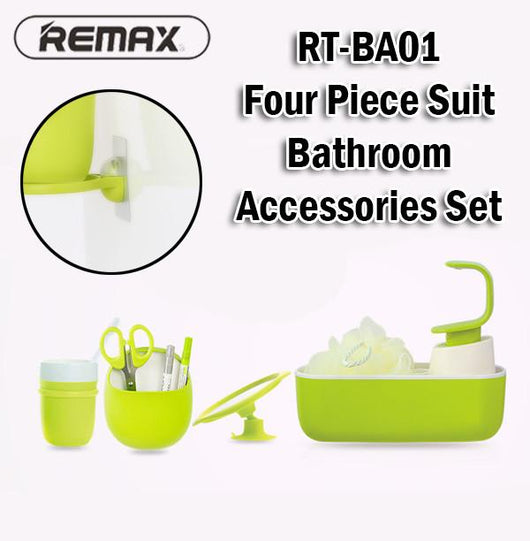 Remax RT-BA01 4 Piece Suit Bathroom Accessories Set Wall Mounted Storage Holder
