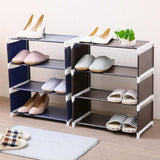 Multi-layer Assembled Shoe Rack Solid Color Non-woven Storage Rack