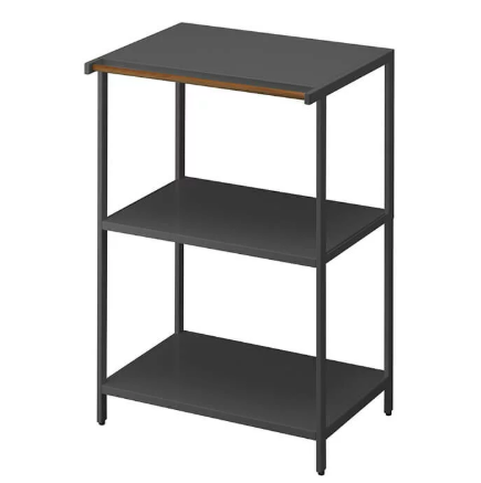 Tower 3-Tiered Storage Rack, Black, 3598