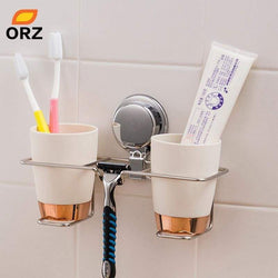 Orz Wall Mount Bathroom Shelf Stainless Steel Toothbrush Holder Household Tools Storage