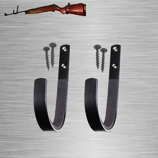 1 Pair Gun Wall Mount Storage Rack J-Hook Rifle Shot gun Hangers Set Anti-Scratch New