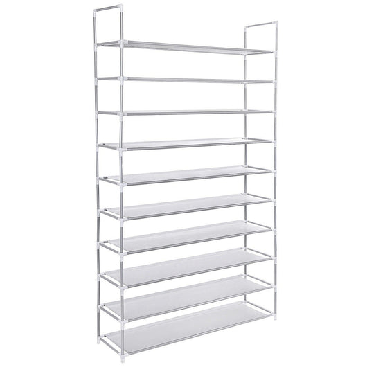 50 Pair 10 Tiers Shoe Rack Shelf Storage Organizer