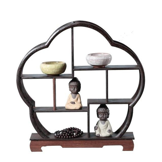 1 Pc Wooden Retro Storage Racks Craft Decor Flower Pot House Storages Rack Wall Book Figurines Display Crafts Shelves