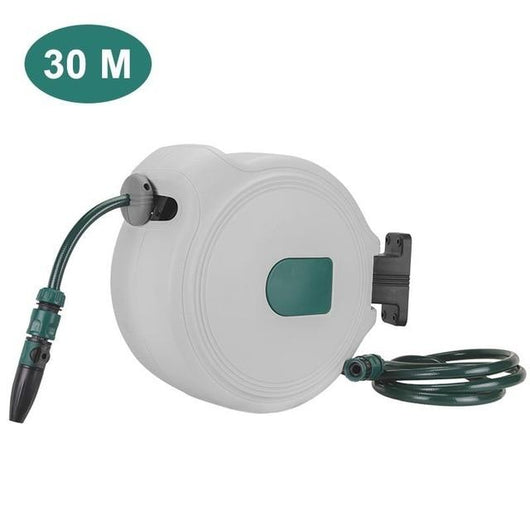 Automatic Telescopic Hose Reel Car Wash Garden Water Hose Storage Rack Holder Retractable Hose