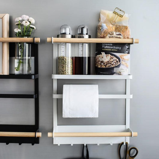 Nordic Kitchen Organizer | Magnetic Fridge Storage Rack