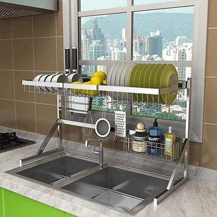 Stainless Steel 2 Layer Dish Drying Storage Rack