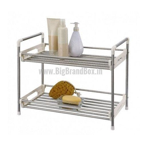 Stainless Steel 2 Tier Utility Rack