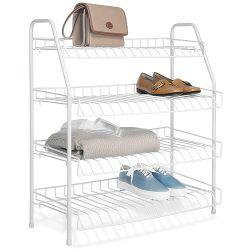 4 Tier Shoe Organiser White