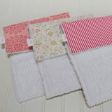 white-chenille-boutique-style-burp-cloths-modern-pink-gold