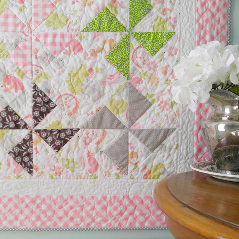 modern-baby-quilts-for-girls-pinwheel-pink-gingham