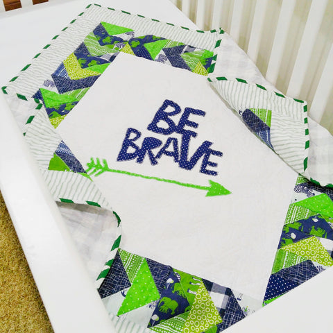 baby-quilts-modern-navy-green-white-be-brave