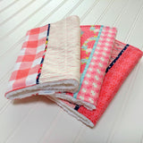 burp-cloth-modern-baby-plaid-pink-coral-tan