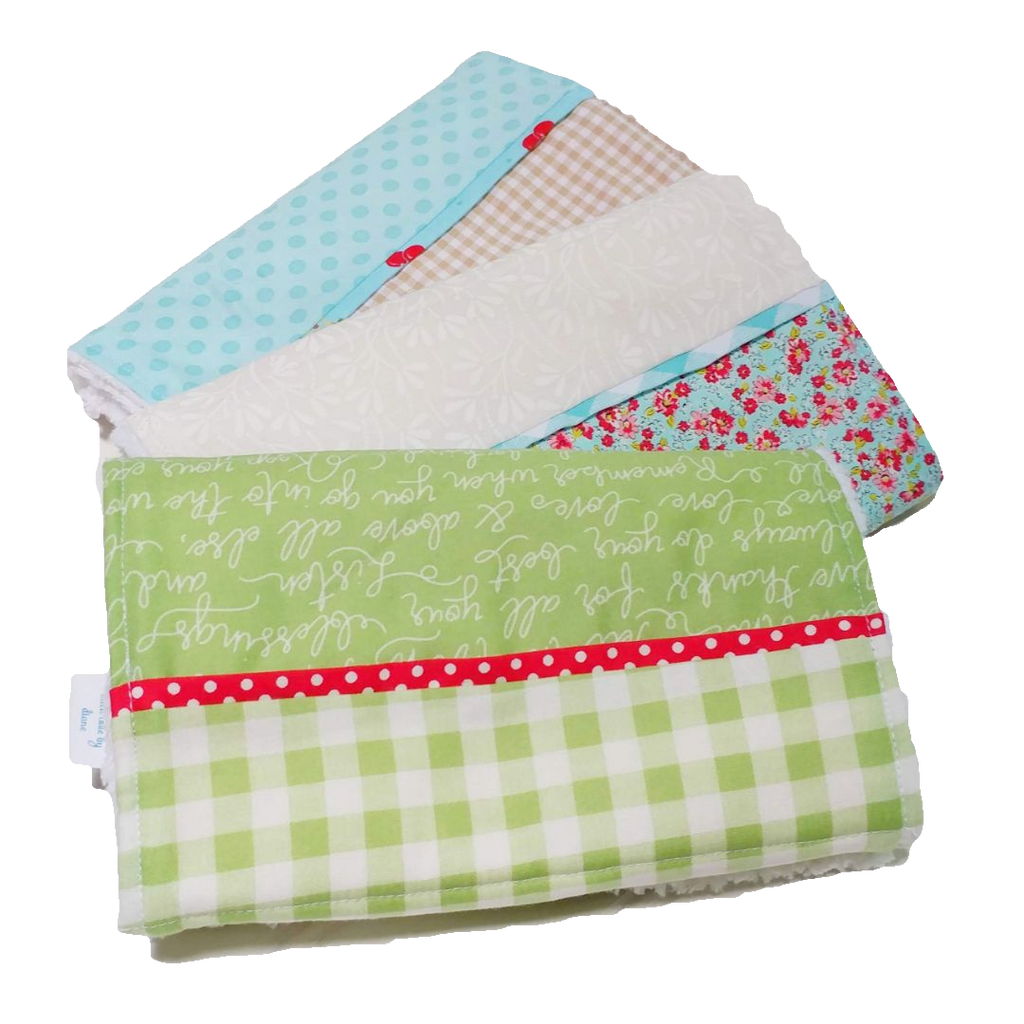 b1ed2c99e Burp Cloth Set 3 Piece Green Gingham – Pixie Quilts - Personalized ...