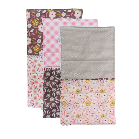 burp-cloths-modern-brown-gray-pink