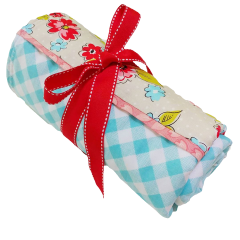 aqua-gingham-baby-changing-pad