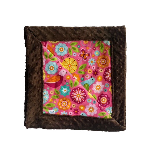baby-receiving-blanket-chocolate-brown-minky-pink-flannel