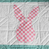 bunny-silhouette-designer-baby-quilts-handmade-pink-gingham