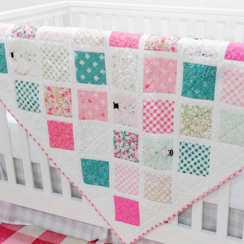 pink-teal-designer-baby-quilts-white-rabbit