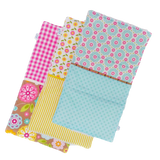 modern-burp-cloth-set-pink-yellow-aqua
