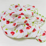 swaddle-blanket-girl-red-poppy-muslin-gauze