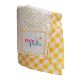 baby-receiving-blanket-yellow-flannel-dots-gingham-trim