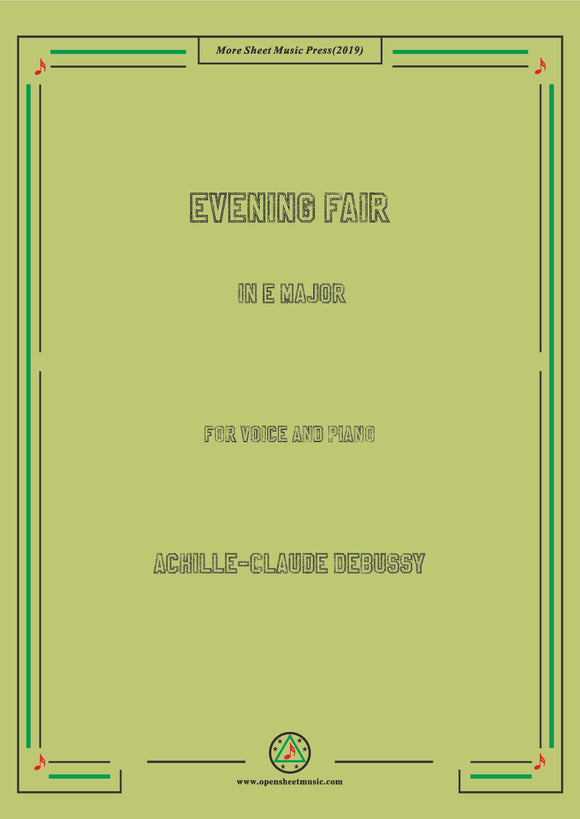 Debussy-Evening Fair,for Voice and Piano