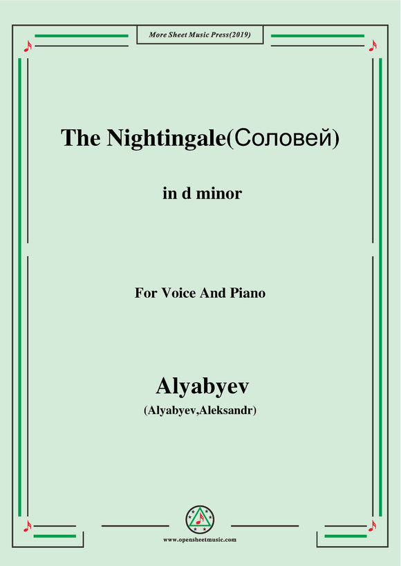 Alyabyev-The Nightingale(Соловей)