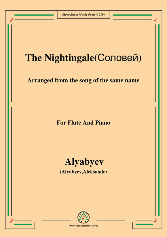 Alyabyev-The Nightingale(Соловей), for Flute and Piano