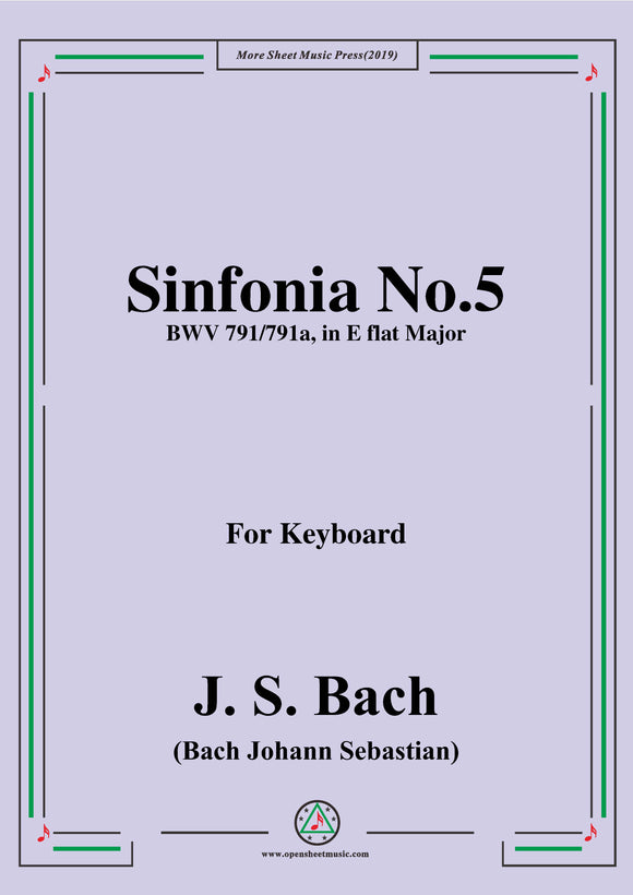 Bach,J.S.-Sinfonia No.5 BWV 791/791a in E flat Major