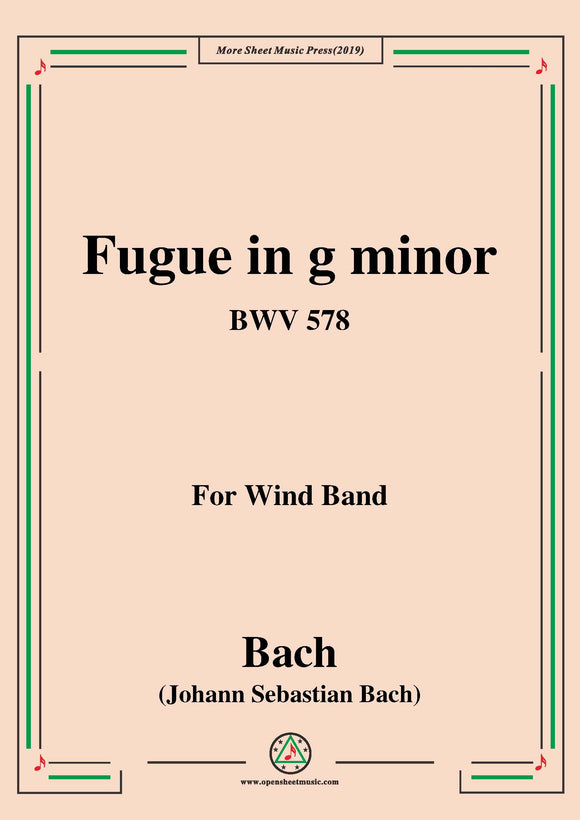 Bach,J.S.-Fugue in g minor,BWV 578,for Wind Band