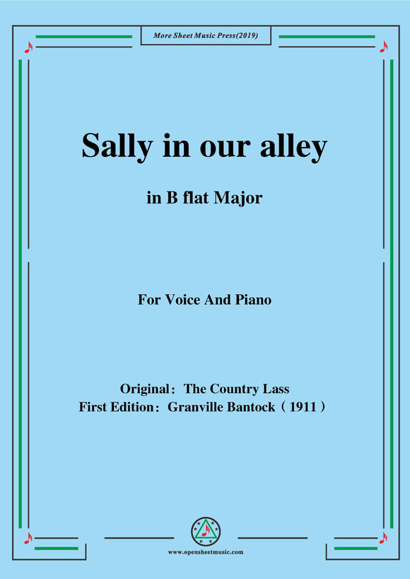 Bantock-Folksong,Sally in our alley