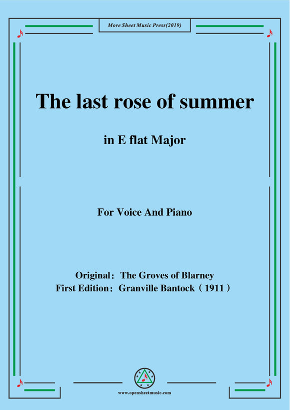 Bantock-Folksong,The last rose of summer
