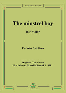 Bantock-Folksong,The minstrel boy